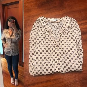 Boden button down top with dots